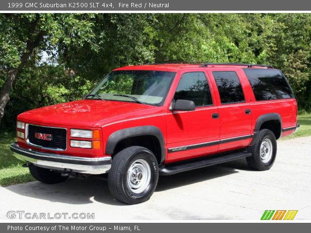 fire red 1999 gmc suburban k2500 slt 4x4 neutral interior vehicle archive. Black Bedroom Furniture Sets. Home Design Ideas