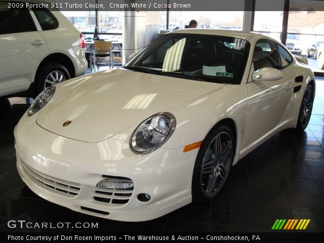 cream white 2009 porsche 911 turbo coupe cocoa brown interior vehicle. Black Bedroom Furniture Sets. Home Design Ideas