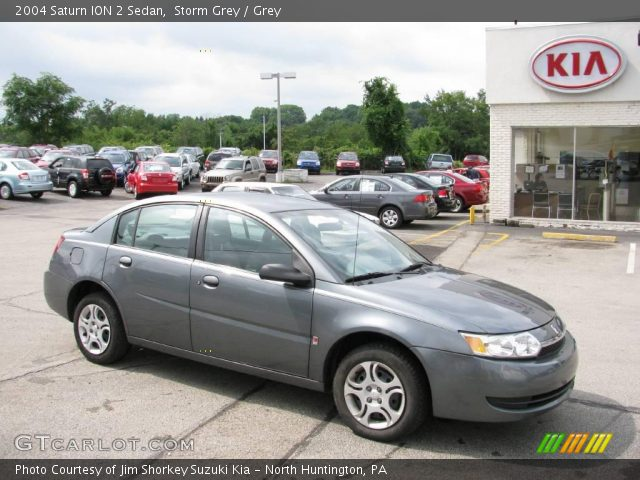 Storm Grey 2004 Saturn Ion 2 Sedan Grey Interior Gtcarlot