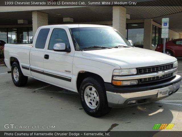 Summit White 1999 Chevrolet Silverado 1500 Ls Extended