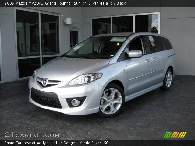 sunlight silver metallic 2009 mazda mazda5 grand touring. Black Bedroom Furniture Sets. Home Design Ideas