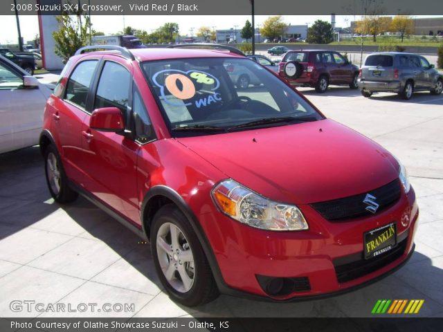 2008 Suzuki SX4 Crossover in Vivid Red