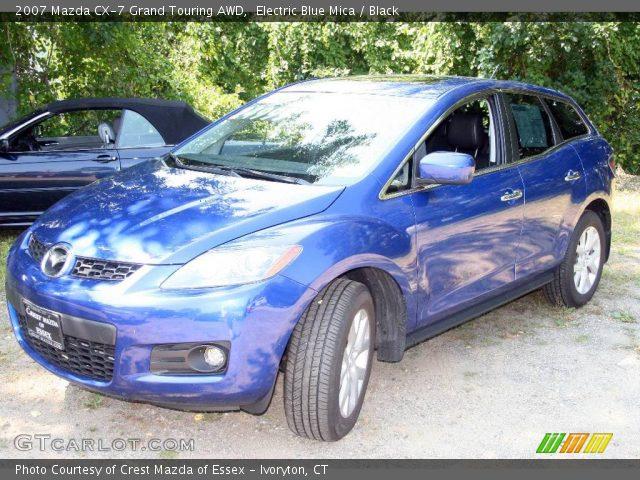 electric blue mica 2007 mazda cx 7 grand touring awd black interior vehicle. Black Bedroom Furniture Sets. Home Design Ideas