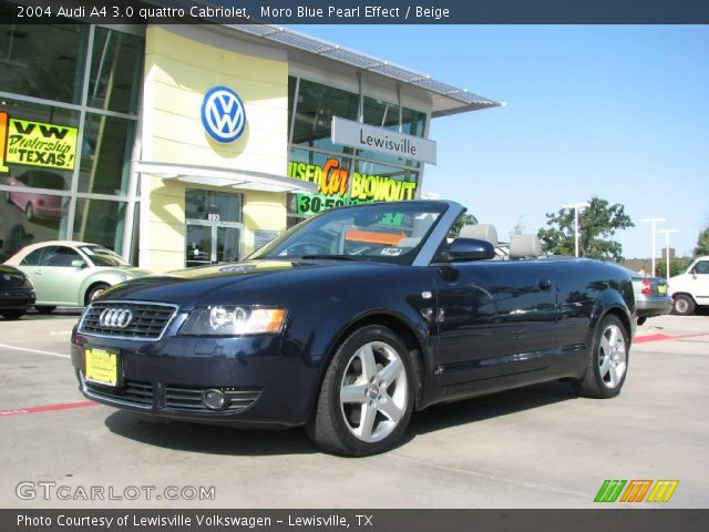 moro blue pearl effect 2004 audi a4 3 0 quattro cabriolet beige interior. Black Bedroom Furniture Sets. Home Design Ideas
