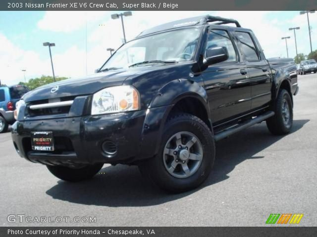 super black 2003 nissan frontier xe v6 crew cab beige. Black Bedroom Furniture Sets. Home Design Ideas