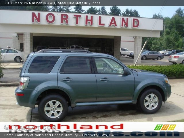 2010 Mercury Mariner I4 4WD in Steel Blue Metallic
