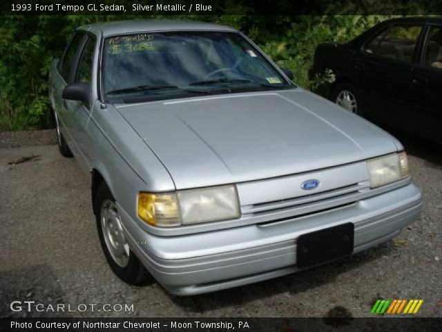Silver Metallic 1993 Ford Tempo GL Sedan with Blue interior 1993 Ford Tempo