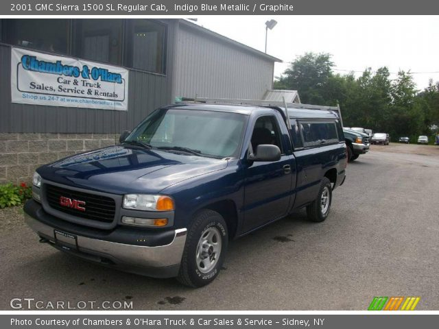 indigo blue metallic 2001 gmc sierra 1500 sl regular cab graphite interior. Black Bedroom Furniture Sets. Home Design Ideas