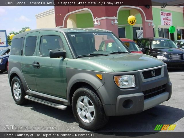 galapagos green metallic 2005 honda element ex awd