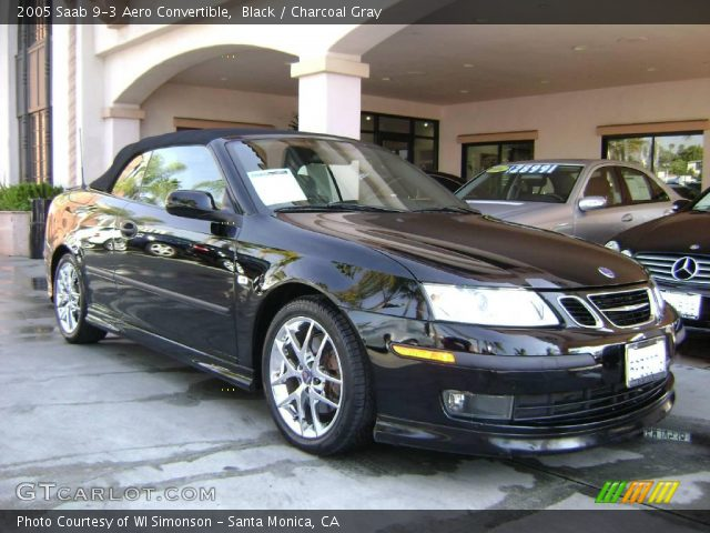 black 2005 saab 9 3 aero convertible charcoal gray interior vehicle archive. Black Bedroom Furniture Sets. Home Design Ideas