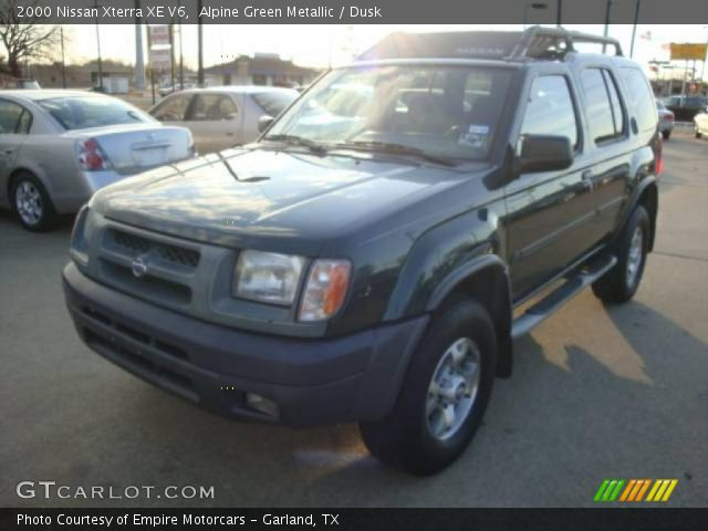 alpine green metallic 2000 nissan xterra xe v6 dusk. Black Bedroom Furniture Sets. Home Design Ideas
