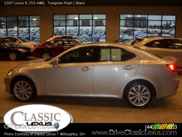 tungsten pearl 2007 lexus is 250 awd black interior vehicle archive 16579201. Black Bedroom Furniture Sets. Home Design Ideas