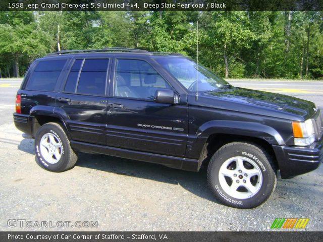 deep slate pearlcoat 1998 jeep grand cherokee 5 9 limited 4x4 black interior. Black Bedroom Furniture Sets. Home Design Ideas