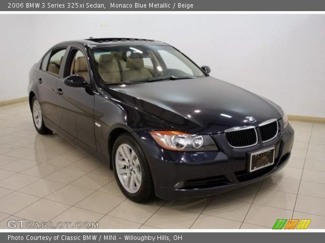 monaco blue metallic 2006 bmw 3 series 325xi sedan beige interior vehicle. Black Bedroom Furniture Sets. Home Design Ideas