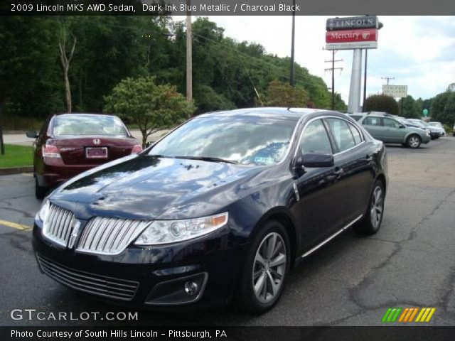 dark ink blue metallic 2009 lincoln mks awd sedan. Black Bedroom Furniture Sets. Home Design Ideas