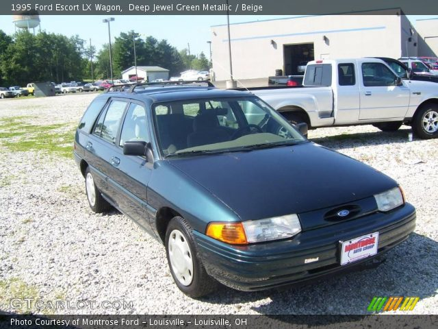 deep jewel green metallic 1995 ford escort lx wagon. Black Bedroom Furniture Sets. Home Design Ideas