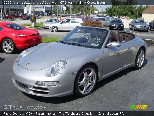 gt silver metallic 2006 porsche 911 carrera s cabriolet cocoa brown interior. Black Bedroom Furniture Sets. Home Design Ideas