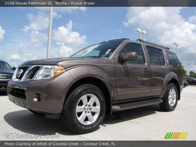 Mocha 2008 Nissan Pathfinder Se Russet Brown Interior