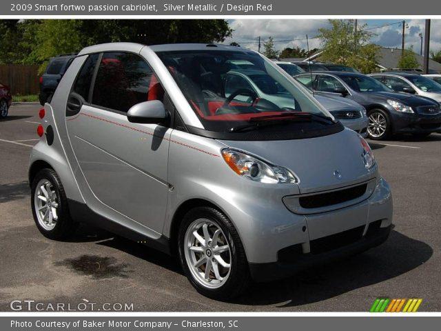 silver metallic 2009 smart fortwo passion cabriolet design red interior. Black Bedroom Furniture Sets. Home Design Ideas