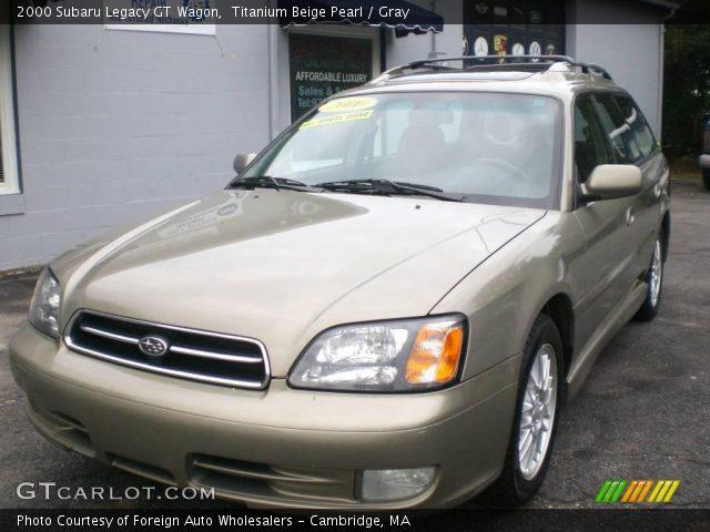 titanium beige pearl 2000 subaru legacy gt wagon gray interior vehicle. Black Bedroom Furniture Sets. Home Design Ideas