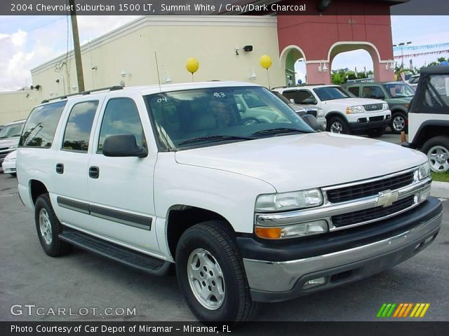 summit white 2004 chevrolet suburban 1500 lt gray dark. Black Bedroom Furniture Sets. Home Design Ideas