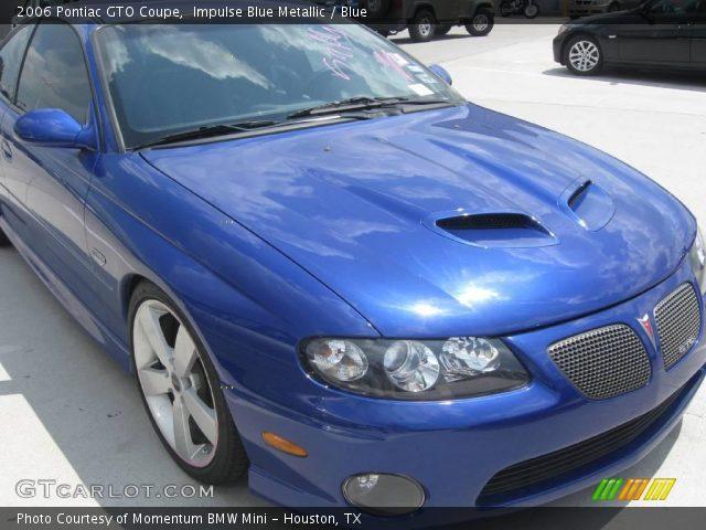 2006 Pontiac GTO Coupe in Impulse Blue Metallic