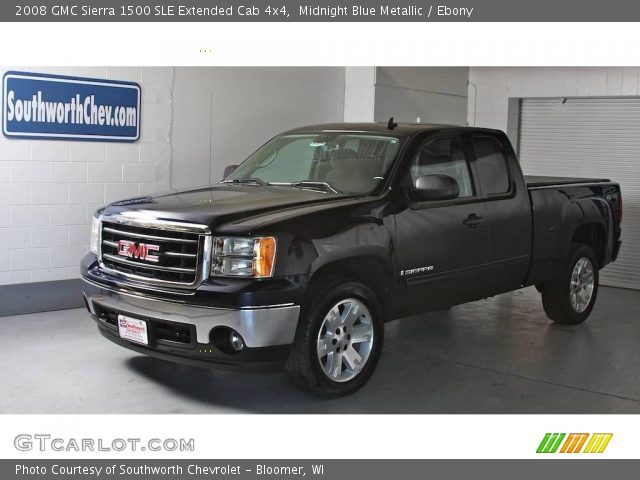 midnight blue metallic 2008 gmc sierra 1500 sle extended. Black Bedroom Furniture Sets. Home Design Ideas