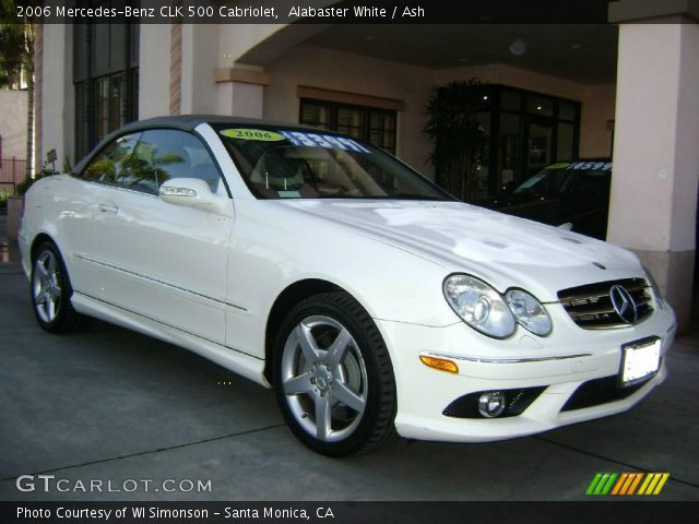 Alabaster white 2006 mercedes benz clk 500 cabriolet for 2006 mercedes benz clk 500