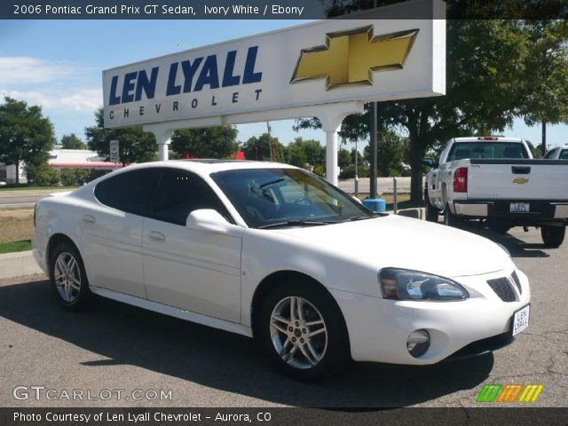 ivory white 2006 pontiac grand prix gt sedan ebony. Black Bedroom Furniture Sets. Home Design Ideas