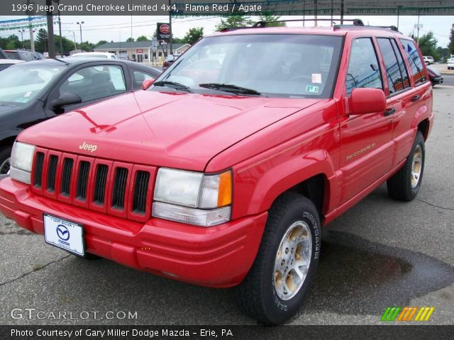 Flame red 1996 jeep grand cherokee limited 4x4 agate - 1996 jeep grand cherokee interior ...