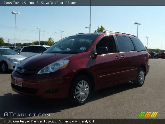 salsa red pearl 2009 toyota sienna le stone interior vehicle archive 16959476. Black Bedroom Furniture Sets. Home Design Ideas