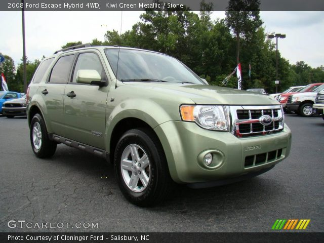 kiwi green metallic 2008 ford escape hybrid 4wd stone. Black Bedroom Furniture Sets. Home Design Ideas