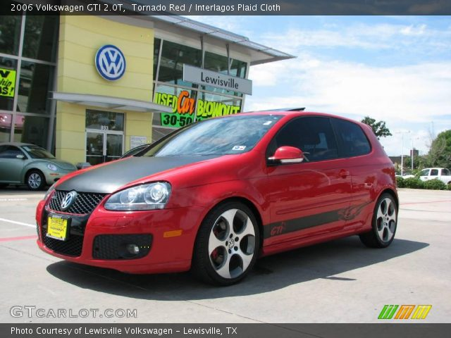 tornado red 2006 volkswagen gti 2 0t interlagos plaid. Black Bedroom Furniture Sets. Home Design Ideas