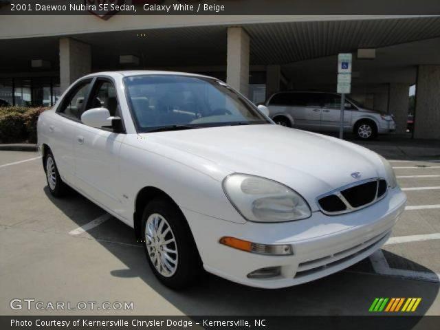 2001 Daewoo Nubira SE Sedan in Galaxy White