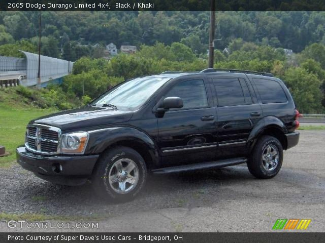 black 2005 dodge durango limited 4x4 khaki interior. Black Bedroom Furniture Sets. Home Design Ideas
