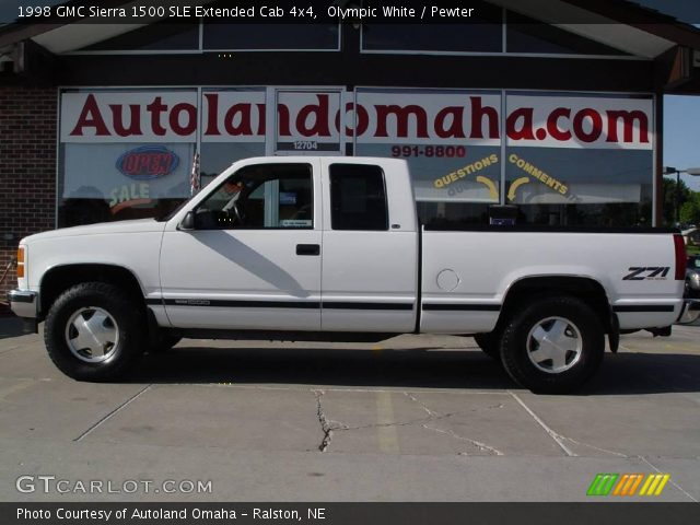 olympic white 1998 gmc sierra 1500 sle extended cab 4x4. Black Bedroom Furniture Sets. Home Design Ideas