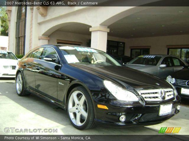 black 2007 mercedes benz cls 63 amg cashmere interior vehicle archive 1701808. Black Bedroom Furniture Sets. Home Design Ideas
