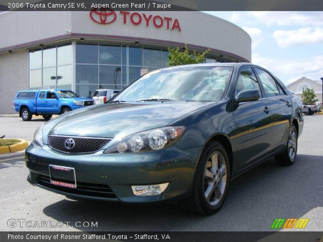 aspen green pearl 2006 toyota camry se v6 taupe. Black Bedroom Furniture Sets. Home Design Ideas