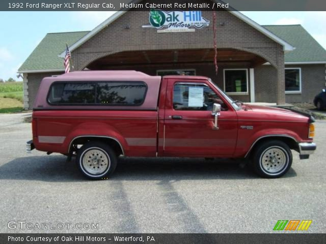 medium cabernet red metallic 1992 ford ranger xlt. Black Bedroom Furniture Sets. Home Design Ideas