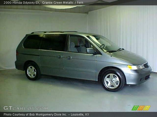 Granite Green Metallic 2000 Honda Odyssey EX with Fern interior 2000 Honda