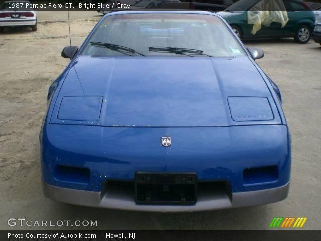Pontiac Fiero Gt 1987. Bright Blue 1987 Pontiac Fiero
