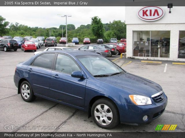 imperial blue 2005 kia spectra ex sedan gray interior. Black Bedroom Furniture Sets. Home Design Ideas