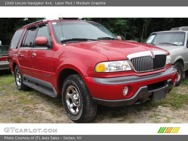 Laser Red 1999 Lincoln Navigator 4x4 Medium Graphite Interior Vehicle