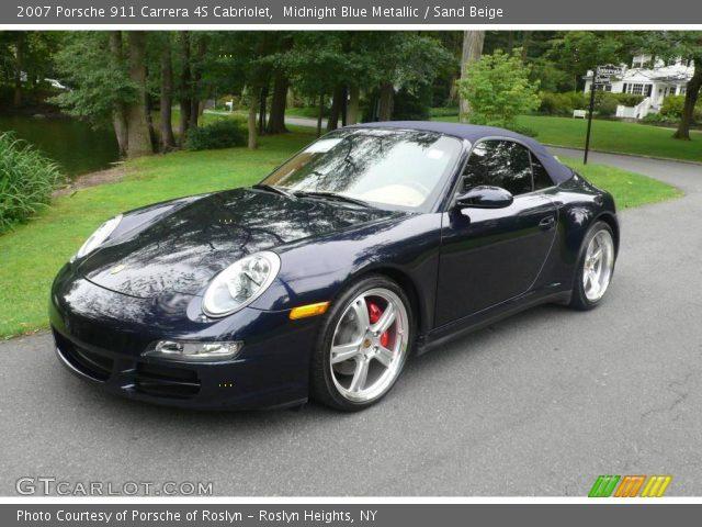Midnight Blue Metallic 2007 Porsche 911 Carrera 4s Cabriolet
