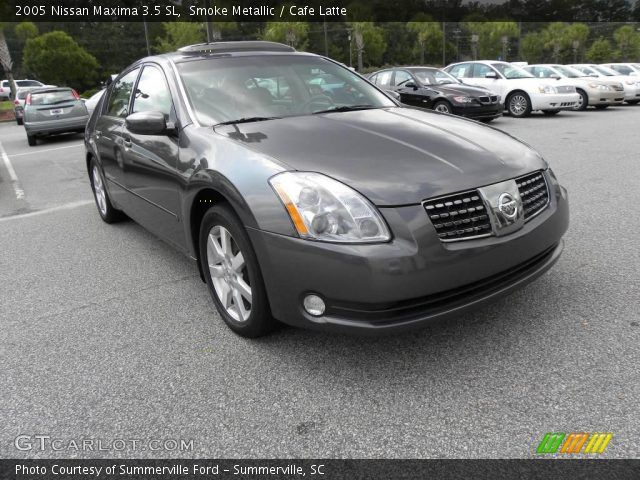 smoke metallic 2005 nissan maxima 3 5 sl cafe latte. Black Bedroom Furniture Sets. Home Design Ideas