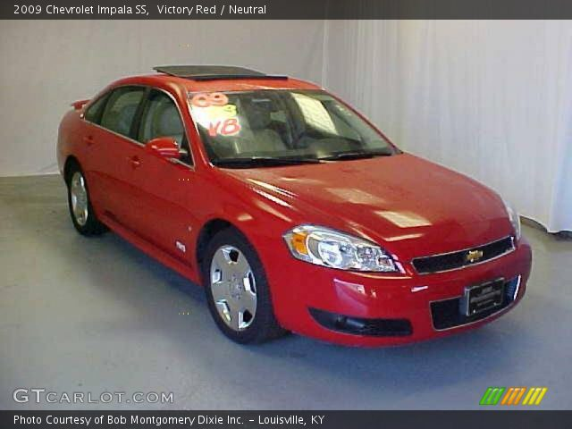 victory red 2009 chevrolet impala ss neutral interior. Black Bedroom Furniture Sets. Home Design Ideas