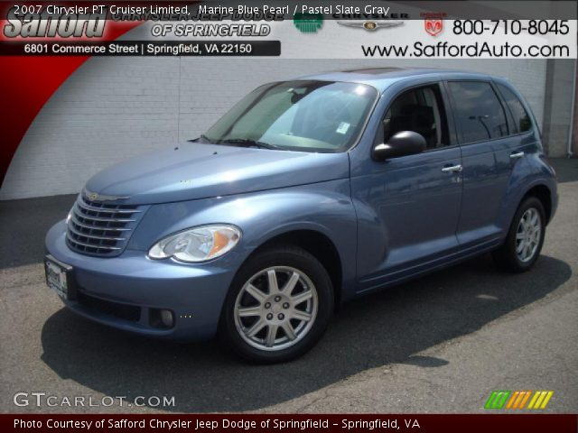 marine blue pearl 2007 chrysler pt cruiser limited. Black Bedroom Furniture Sets. Home Design Ideas