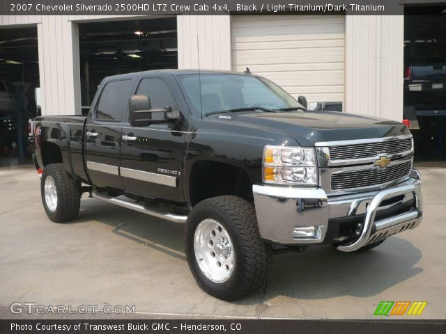 black 2007 chevrolet silverado 2500hd ltz crew cab 4x4. Black Bedroom Furniture Sets. Home Design Ideas