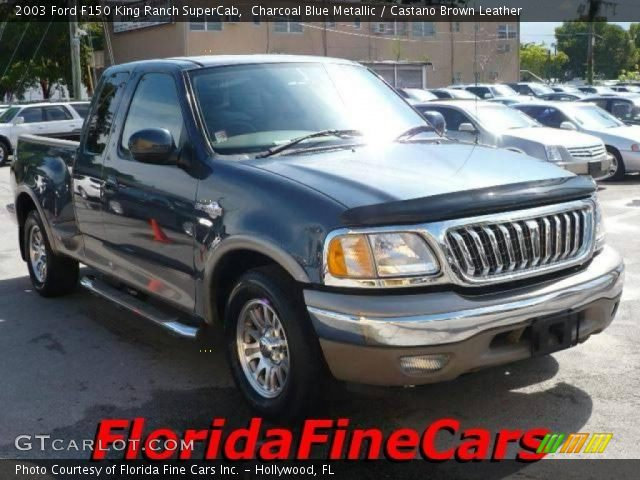 2003 Ford F150 King Ranch SuperCab in Charcoal Blue Metallic