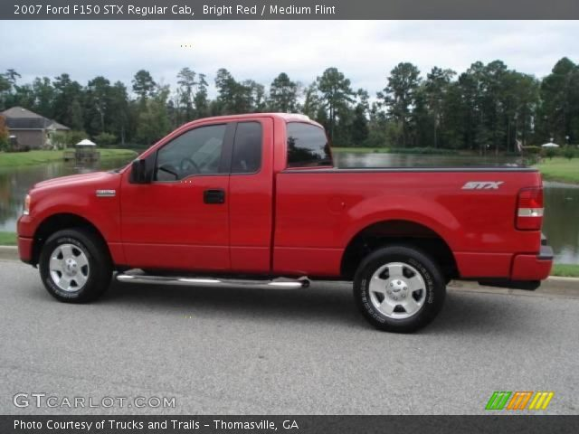 bright red 2007 ford f150 stx regular cab medium flint interior vehicle. Black Bedroom Furniture Sets. Home Design Ideas